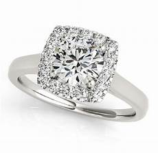 1 48 carat pave halo engagement ring classic