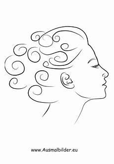 Malvorlagen Menschen Gesichter Ausmalbilder Frau Mit Locken Gesichter Und Frisuren