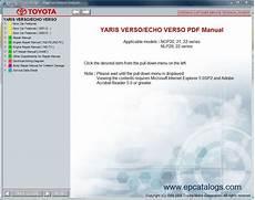 online car repair manuals free 2004 toyota echo electronic valve timing toyota yaris verso echo verso repair manual cars repair manuals