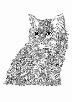 Malvorlage Katze Mandala Kittens And Butterflies Coloring Book By Katerina