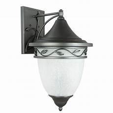 sunset lighting holifield iron 3 light natural iron outdoor wall lantern f8322 36 the home depot