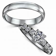 titanium solitaire engagement wedding ring bridal ring sets at elma uk jewellery