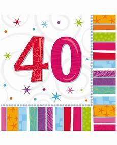 servietten 40 geburtstag tisch deko karneval universe