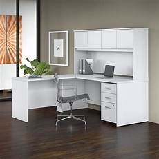 online home office furniture bush studio c 72w x 30d l shaped desk 4 piece office suite