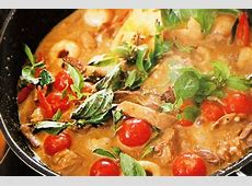 coconut risotto with red curry duck_image