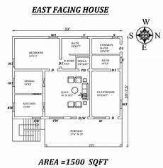 vastu plan for east facing house 39 x39 amazing 2bhk east facing house plan as per vastu