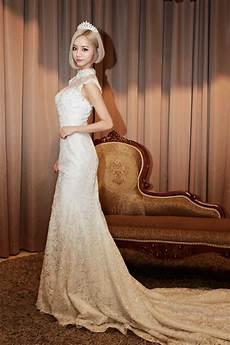 10 beautiful female idols in wedding gowns