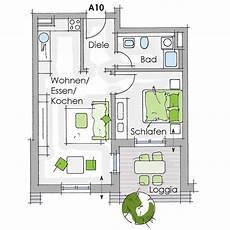 Grundriss 2 Zimmer Wohnung Haus A In Der Werderstra 223 E