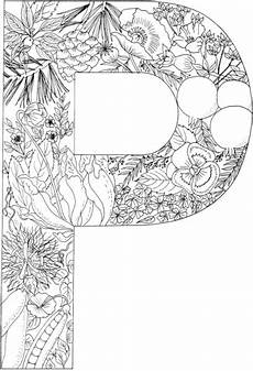 Ausmalbilder Buchstaben P Letter P With Plants Coloring Page Free Printable