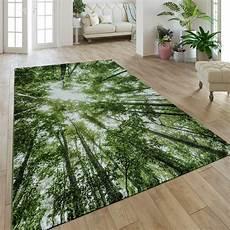 teppich natur moderner kurzflor teppich greenery natur look wald optik