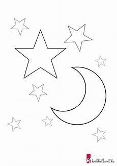 Malvorlage Sterne Und Mond Diese Vorlage Im Pdf Format Und Weitere Kostenlose