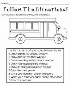 following directions worksheets kindergarten 11712 back to school bundle info activities by and coffee