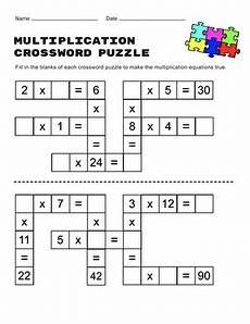 multiplication riddle worksheets 4th grade 4576 multiplication crossword worksheet education