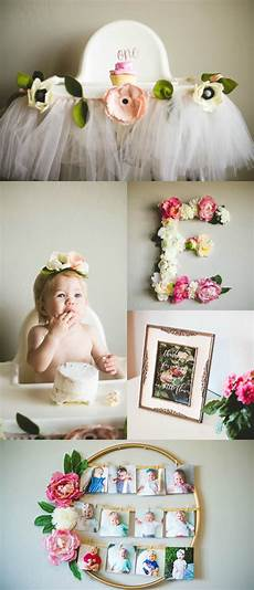 1st birthday decoration themes ella s floral birthday baby birthday