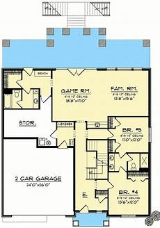 craftsman house plan plan 890067ah craftsman house plan for a view lot