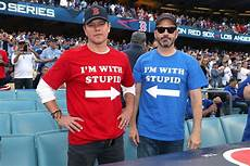 matt damon jimmy kimmel world series jimmy kimmel matt damon wore i m with