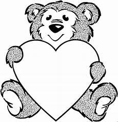 Malvorlagen Herz Winter Baer Mit Herz 2 Ausmalbild Malvorlage Tiere
