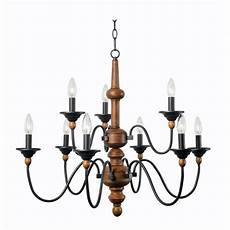 Kenroy Home Madeline 9 Light Wood Chandelier 93529lwg