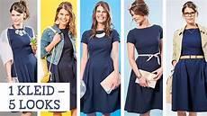 Dunkelblaues Kleid Kombinieren - 1 kleid 5 looks ideen wie du dein kleid f 252 r jeden