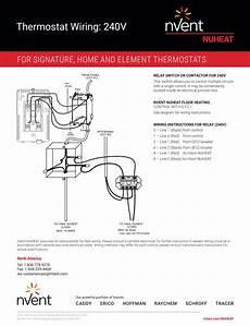 heat trace 240v wiring diagram home thermostat by nuheat floor heating