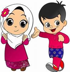Gambar Kartun Anak Muslim Png Top Gambar