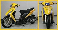 Modif Warna Motor Spin by Modifikasi Motor Suzuki Spin Skuter Matik Racing
