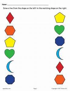 matching colors worksheet for kindergarten 12921 6 free shapes matching worksheets for preschool toddlers supplyme