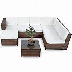 Gartenmöbel Polyrattan Lounge - de malibu poly rattan lounge braun aluminium sofa
