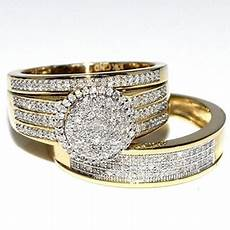 rings midwestjewellery his 10k yellow gold halo