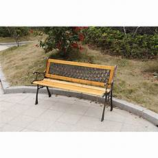 gardenised gardenised patio garden park yard 49 in wooden outdoor bench qi003335l the home depot