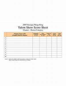 talent show score sheet sle free download