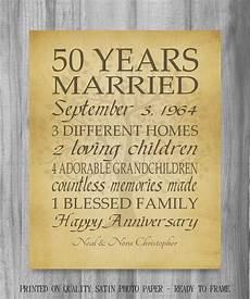50 Year Wedding Anniversary Gift