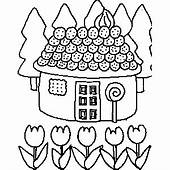Candy House Coloring Sheet