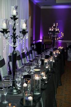 silver black and purples wedding table decor purple wedding purple wedding tables wedding