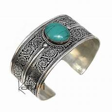 bijoux ethniques indiens bracelet en argent massif 925