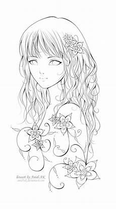 Anime Malvorlagen Anime M 228 Dchen Zeichnung Fablos Blumen Disney