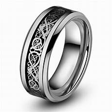 queenwish men engagement ring 8mm celtic tungsten carbide dragon ring for men wedding band aneis
