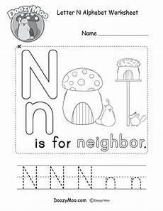 letter n alphabet activity worksheet doozy moo
