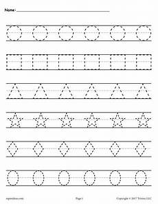 shapes tracing worksheets supplyme