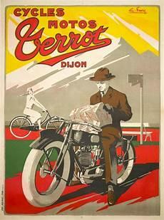 1920 rare motorcycle original vintage poster terrot