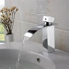 shop elite modern bathroom sink waterfall faucet chrome