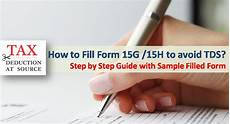 how to fill form 15g and 15h