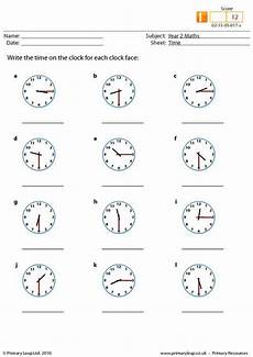 primaryleap co uk time worksheet write down the time