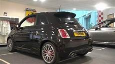 abarth 595 turismo in black with leather