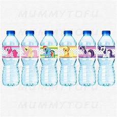 my little pony birthday party water bottle labels diy party printable instant download pony
