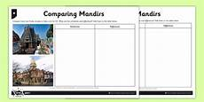places of worship worksheets ks2 16010 hinduism worksheet activity sheet comparing mandirs
