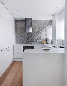 Metal Kitchen Backsplash Sparkling Trend 25 Gorgeous Kitchens With A Bright