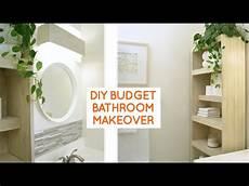 diy small bathroom remodel budget bathroom ideas youtube
