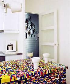 Glass Top Dining Table Lego Parts Offers Unique Furniture Design Idea