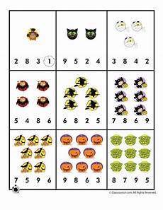 halloween number recognition counting worksheet woo jr kids activities